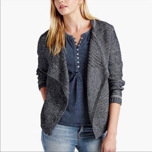 Lucky Brand Mixed Stitch Fly Away Cardigan